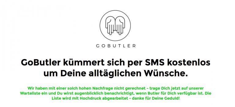 GoButler: Berliner Start-up macht (fast) jeden Wunsch wahr