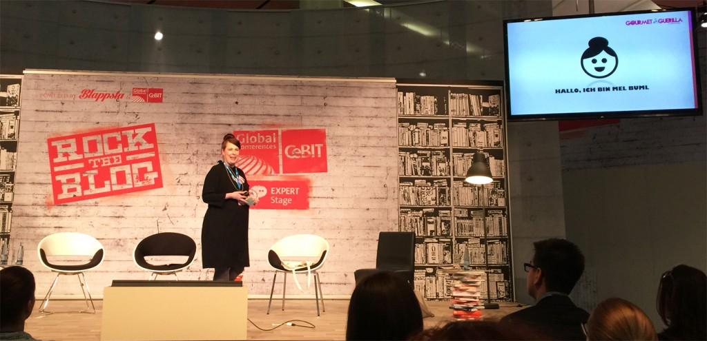 Rock the Blog CeBit 2015 Mel Buml GourmetGuerilla