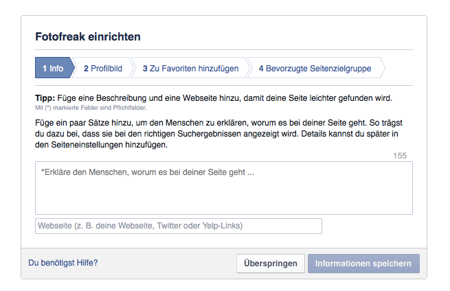 Facebook-Fanpage Content