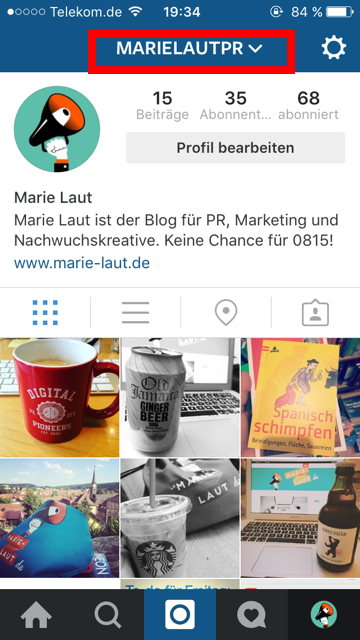 Instagram_Accountwechsel